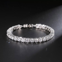 T987 Simple Rose Gold Plated Round 5A NSCD Stone Tennis bracelets For women Bridal Accessories Jewelry Small Stone 5MM
