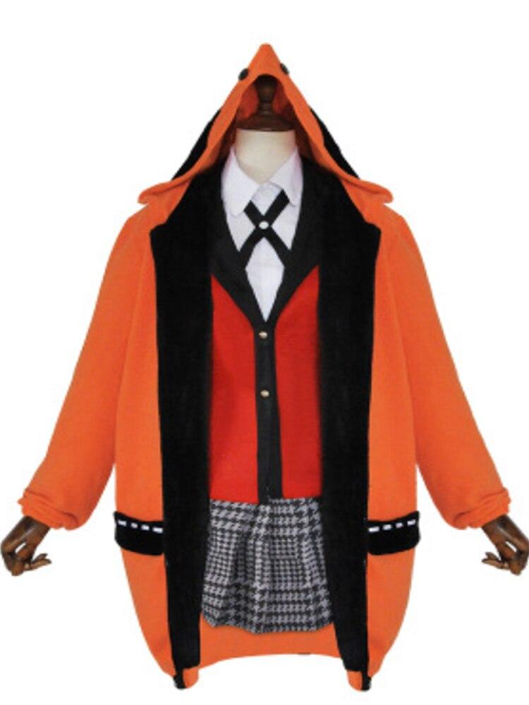 Kakegurui Cosplay Uniform Hoodie Figure Halloween-Dress Anime Yomotsuki Runa School-Girls