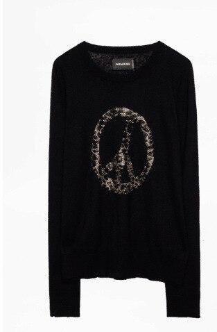 Maglione delle donne 2019 Autunno e di Inverno Dello Sterzo Ruota di Perforazione a Caldo di Modo Maturo Puro Maglione di Cachemire Delle Donne-in Pullover da Abbigliamento da donna su  Gruppo 3