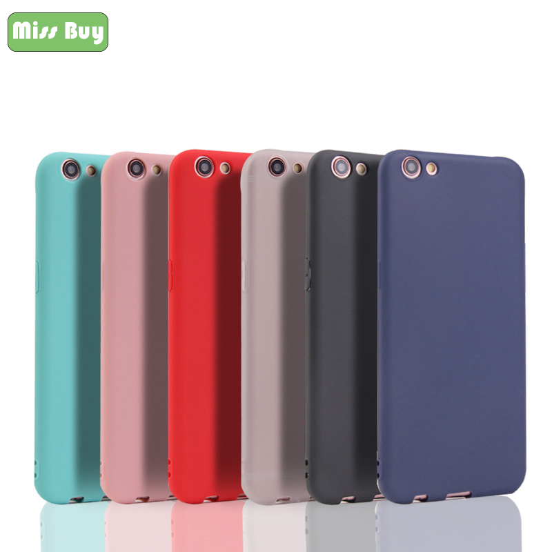 Missbuy Candy Solid Color <font><b>Phone</b></font> <font><b>Cases</b></font> for <font><b>OPPO</b></font> A83 A79 A75 A73 <font><b>A71</b></font> A57 A53 A37 A33 A59 A1 A3 <font><b>Phone</b></font> Shell Cover Coques realme Box image