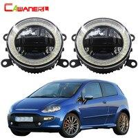 Cawanerl For Fiat Punto Evo 2009 2010 2011 2012 Car LED Fog Light + Daytime Running Lamp DRL + Angel Eye Bulb 12V Accessories
