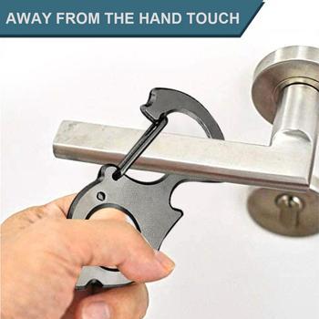 Higieniczny uchwyt drzwiowy mechanizm otwierania drzwi łatwy do przenoszenia ochrona bezdotykowa akcesoria do otwierania domu New Arrival #4 tanie i dobre opinie Automatyczne bram