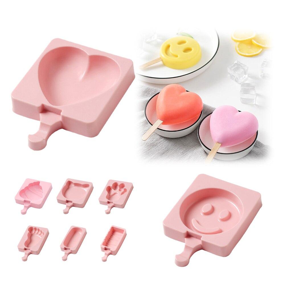 8 forme stampo per gelato in Silicone stampi per ghiaccioli fai da te Dessert fatto in casa congelatore succo di frutta ghiaccio Pop Maker stampo con bastoncini