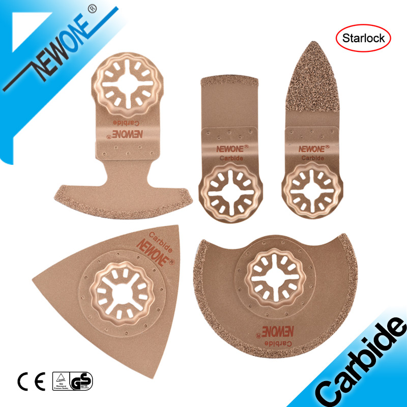 NEWONE Carbide Starlock Oscillating Saw Blade Mult-tool  Saw Blades Fit Cutting Out Samages Tile Joints