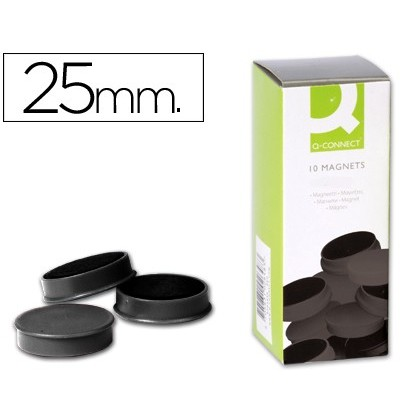 MAGNETS FOR CLIP STRIP Q-CONNECT IDEAL FOR Slates MAGNETICAS25 MM BLACK-10 'S BOX MAGNETS