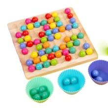 Montessori Baby Puzzel Game Puzzel Vroege Onderwijs Speelgoed Voor Kinderen Schaken Houten Speelgoed Ouder-kind Interactie