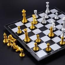 32/36cm set di scacchi medievali di grandi dimensioni con scacchiera magnetica di grandi dimensioni 32 pezzi degli scacchi set
