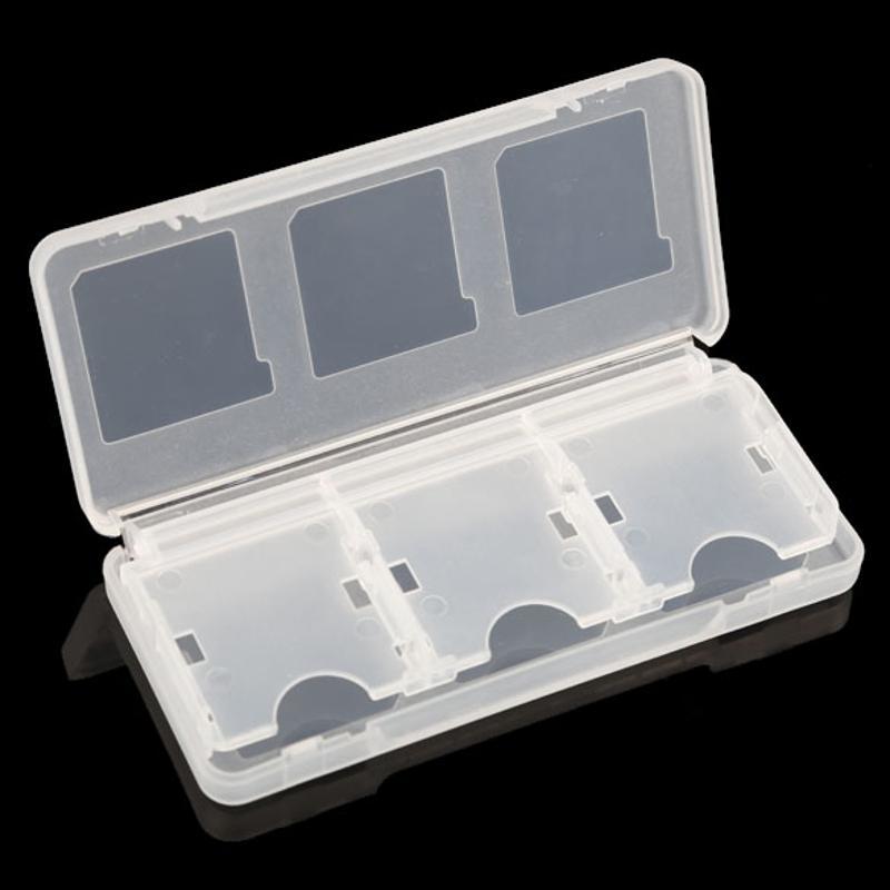 플라스틱 가벼운 휴대용 새로운 6 in1 게임 카드 케이스 상자 닌텐도 DS 라이트 NDSL NDS 게임 카드 보호 케이스 쉬운 케이스