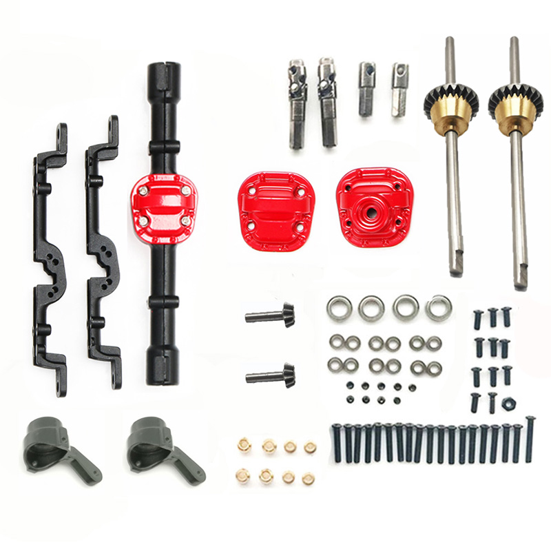 for MN Model 1:12 D90 D91 4X4 Front Rear RC Car Spare Parts Upgrade Metal Axle Housing Differential Gear Set Replacement Accesso
