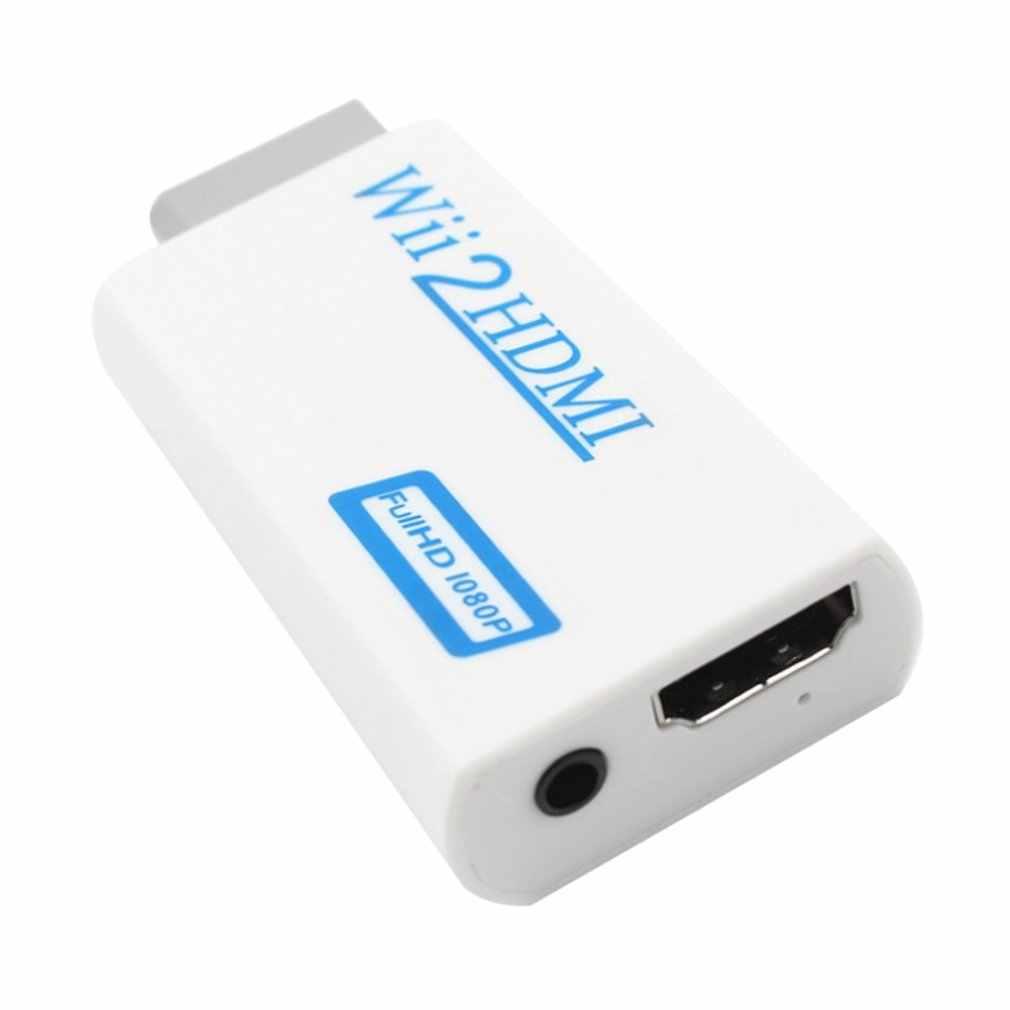 Para Nintendo Wii sin complicaciones Plug and Play para Mando Wii a HDMI 1080p Adaptador convertidor Wii2hdmi 3,5mm caja de Audio para Wii-link
