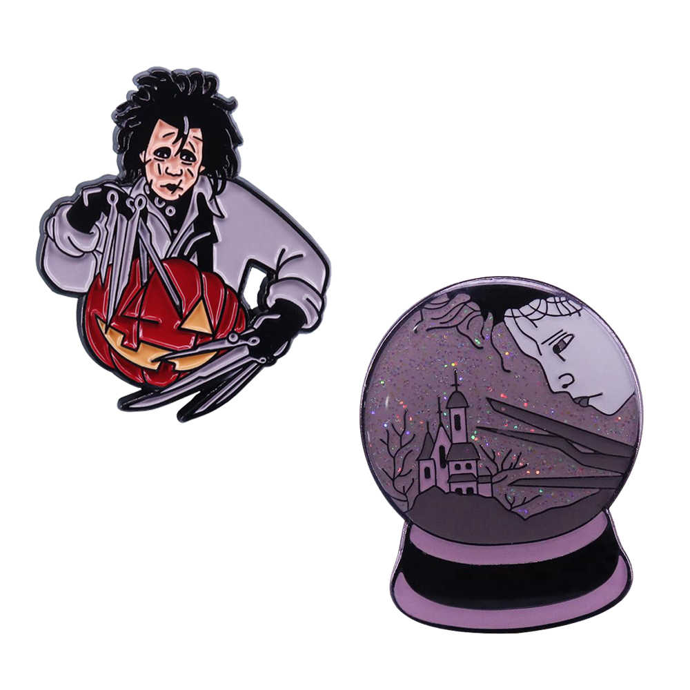 Edward Scissorhands Creepy Carver Emaille Pin Perfecte Halloween Gift