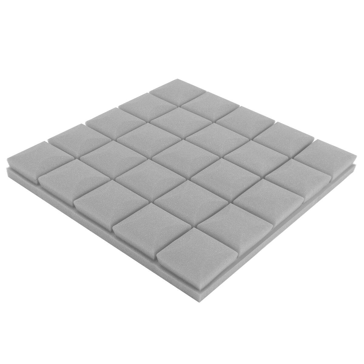 4pcs/set 30x30x5cm Soundproof Foam Egg Profile Sound Absorbent Foam Acoustic Panel Noise Absorption File for KTV Audio Room