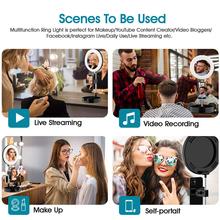 Uniwersalna lampa pierścieniowa USB Selfie do aparatu do fotografii studyjnej możliwość przyciemniania oświetlenia wideo ze stojakiem do makijażu Youtube na żywo tanie tanio GIAUSA CN (pochodzenie) 3300-5600 k