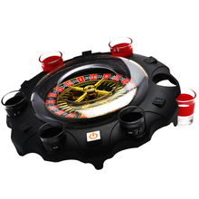 Electric Russian Lucky Round Wine Set Drinking Game Ktv Bar Nightclub Props, Turntable Roulette Turn Music