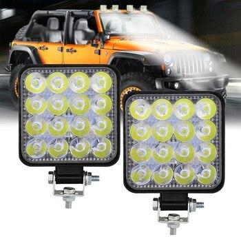 Mini 16LED 12V 24V 48W  Car  SUV LED Work Light LED Off load light Bar for Truck  Flood Spot Combo Beam Spotlight Light Bar/Work Light    -