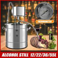 12/22/36/55L 8K Non-magnetic Magnet Distiller Moonshine Alcohol Stainless Copper DIY Home Water Wine Essential Oil Brewing Kit