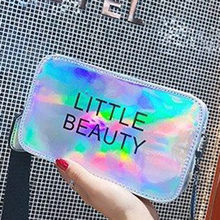 Fashion Women Brand Design Small Square Shoulder Bag Clear laser Harajuku PU Composite Messenger Bags New Female Handbags(China)