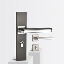 Светодиодный светильник ручки двери для межкомнатных дверей розетка из сплава цинка и пластины комплект рычага двери деревянная дверная ручка замок