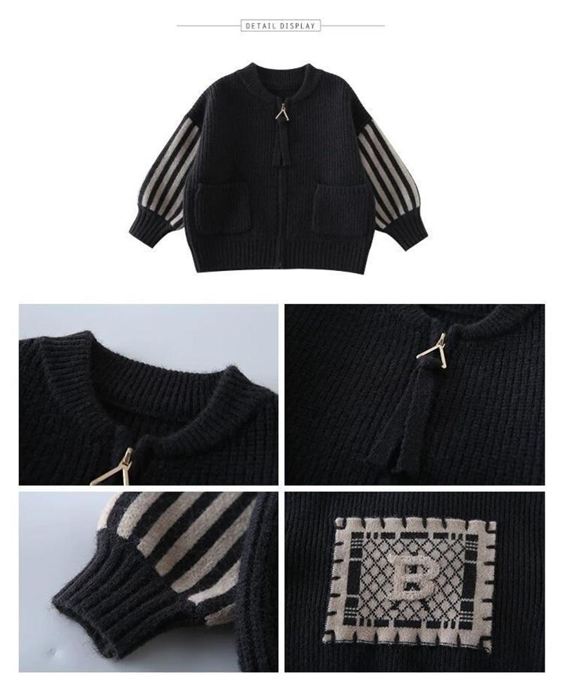 novas coreanas de malha com zíper, camisola