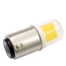 BA15D مصباح ليد لمبة 3 واط 110 فولت 220 فولت التيار المتناوب غير يعتم 300 لومينز COB 1511 Led مصباح أبيض دافئ الأبيض ل الثريا ماكينة خياطة