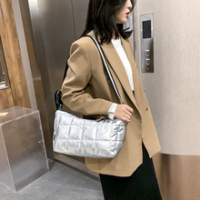 Shoulder-Bags Bright Women Crossbody-Bags Winter Cotton Fashion for Down-Bag Trending