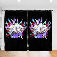 Living Room Sun Block Curtain I Just Graduated Now Class Of 2017 Light Shading Bedroom Blackout Window Curtains 52x72In