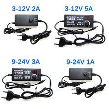 5v 12v fonte de alimentação adaptador 3v 5v 6v 9v 12v 24 v 1a 2a 5a ac ajustável para dc adaptador de alimentação universal 220v a 12 24 v volt
