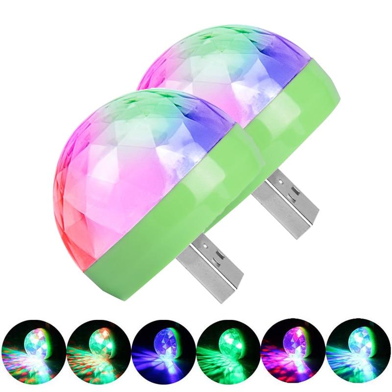USB Led Party Lights Music Sensor USB Mini Disco DJ Stage Lighting Effect Light Crystal Magic Ball Lamp For Home Party Karaoke