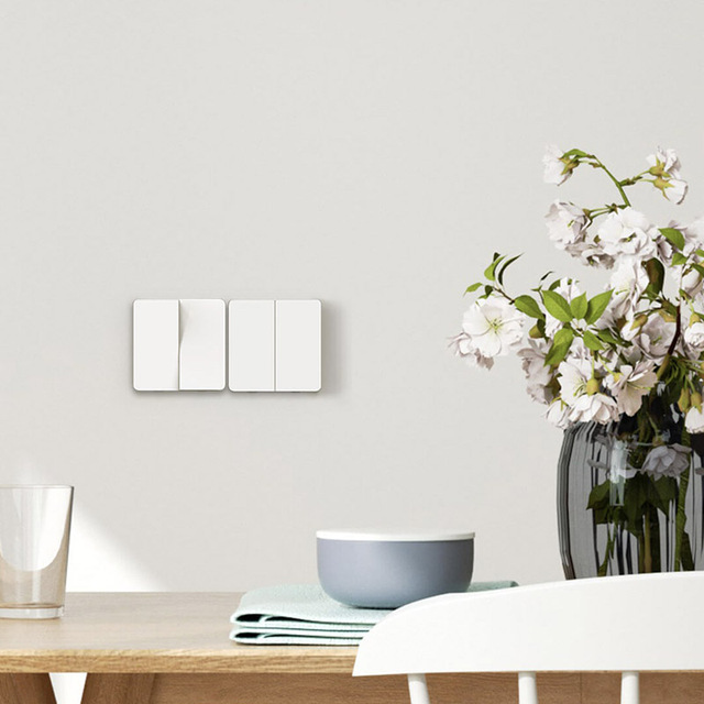 Xiaomi Mijia Wall Switch Single Double triple Open Dual Control Switch 2 Modes Switch Over Intelligent Lamp Lights Switch