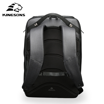 Kingsons new multifunctional solar charging anti-theft backpack men's 15-inch USB charging travel bag high-end upgraded version 2
