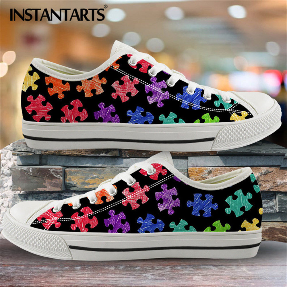 INSTANTARTS Classic Low Top Canvas Shoes Vulcanized Sneakers Colorful Rainbow Print Pride Ladies Flats Shoes Women Zapatillas 7