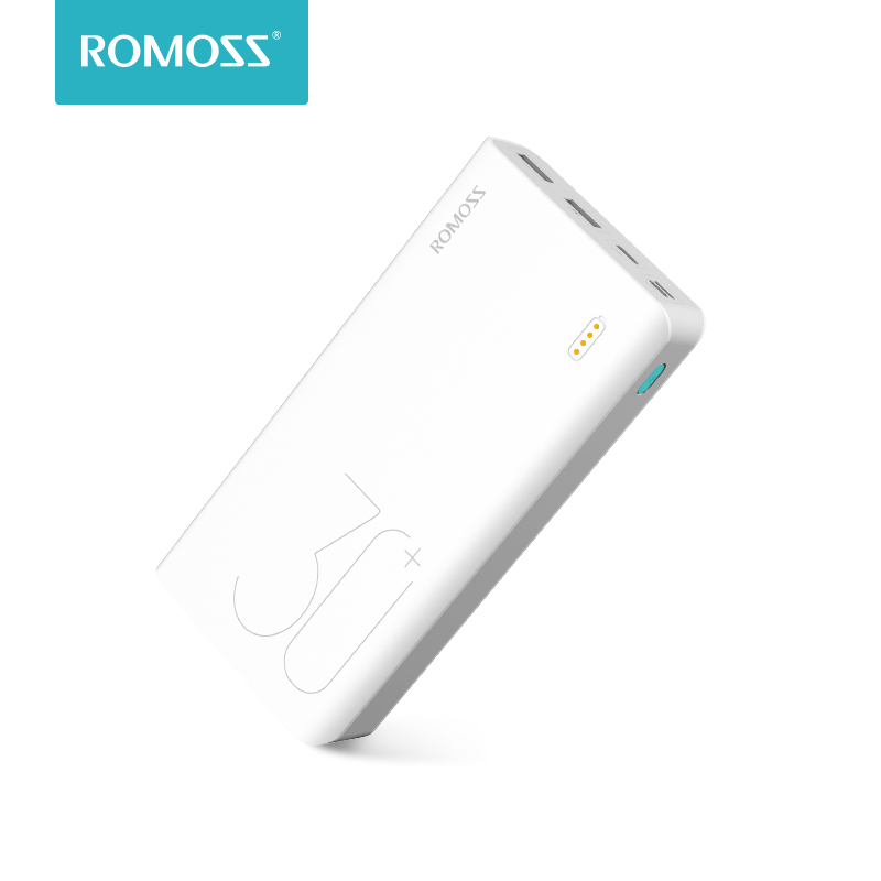 ROMOSS Sense 8+ 30000mAh Power Bank Portable External Battery With QC3.0 Fast Charging Portable Charger For Phones Tablet