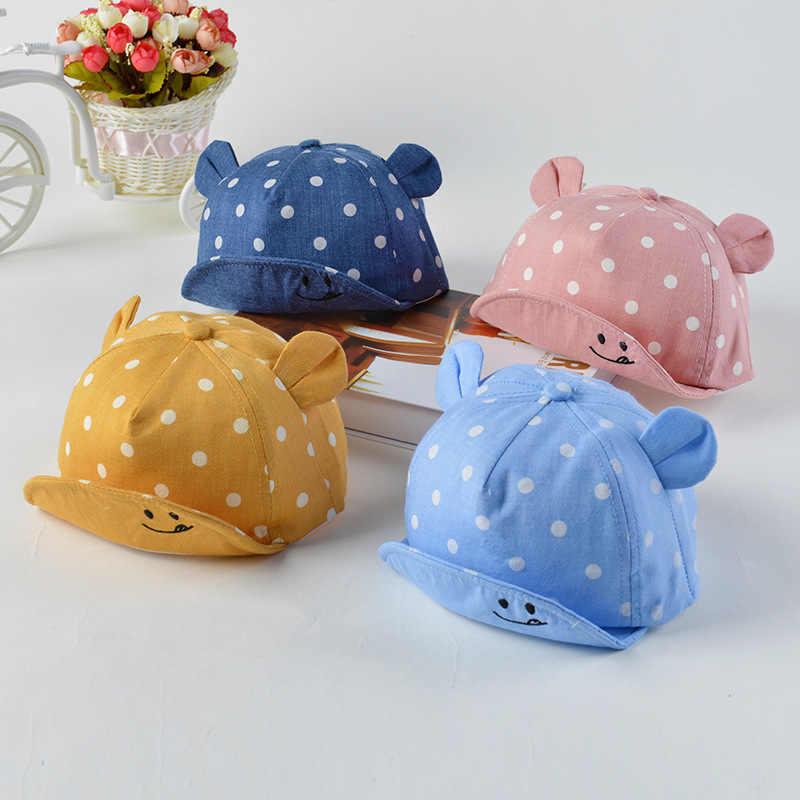 חמוד תינוק ילד כובע רקמת מספר תינוק בייסבול כובע קיץ סתיו ילדי כותנה שמש כובע