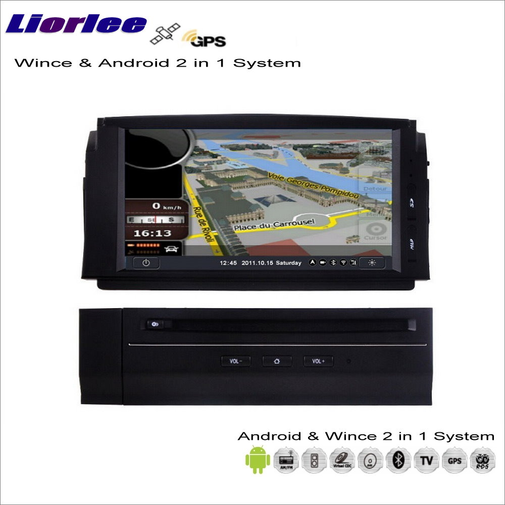 Liorle For Mercedes Benz C Class <font><b>W204</b></font> 2007-2011 Car Android Multimedia <font><b>Radio</b></font> CD DVD Player <font><b>GPS</b></font> Map Navigation Audio Video Stereo image