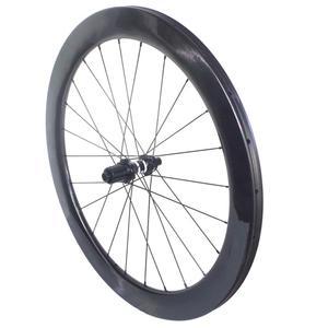 Image 2 - Freio a disco clincher estrada rodas de carbono centro bloqueio 38mm 45mm 50mm 60mm tubular rodado 25mm largura
