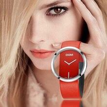 Dom Horloge Vrouwen Luxe Fashion Casual 30 M Waterdicht Quartz Horloges Lederen Band Sport Dames Elegant Polshorloge Meisje