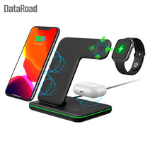 Dataroad 2020 Baru Ponsel Nirkabel Ponsel Charger 3 In 1 Nirkabel Desktop Charger Station untuk Earphone dan Smartwatch(China)