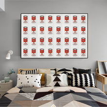 Andy warhol campbells tomato soup canvas print POP ART Giclee poster on for wall decoration painting
