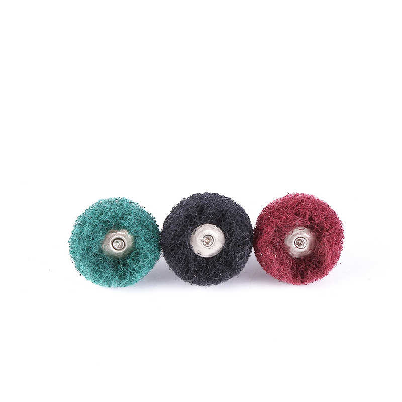 5pcs Mini Brush Scouring Pad Abrasive Wheel Nylon Fiber Grinding Sanding Head Buffing Polishing Wheel Buffing Polishing Wheel