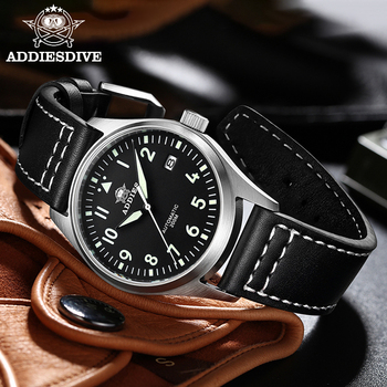 Diver Mechanical Dive Watch For Men Leather Sapphire Crystal Business Men's Pilot NH35 Automatic Watches 200M Waterproof - discount item  55% OFF Men's Watches