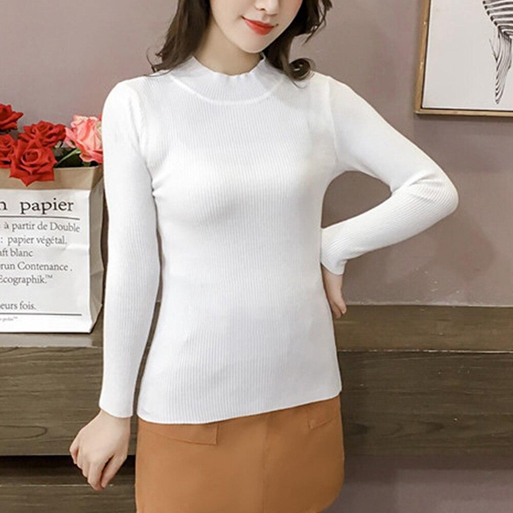 New Women Sweater Autumn Winter Turtleneck Pullovers Sweaters Primer Shirt Long Sleeve Short Korean Slim-Fit Tight Sweaters