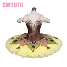 New Arrival! yellow professional platter tutu classical ballet costume toddler dancewear adult dressesBT9084