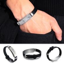 16 Styles Men's Stainless Steel Bangles Silicone Medical Alert Id Bracelets Diabetes Epilepsy Alzheimer'S Emergency Jewelry