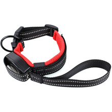 Nylon Dog Collar with Retractable Leash Traction Rope Puppy Harness Pet Products Supplies For Most