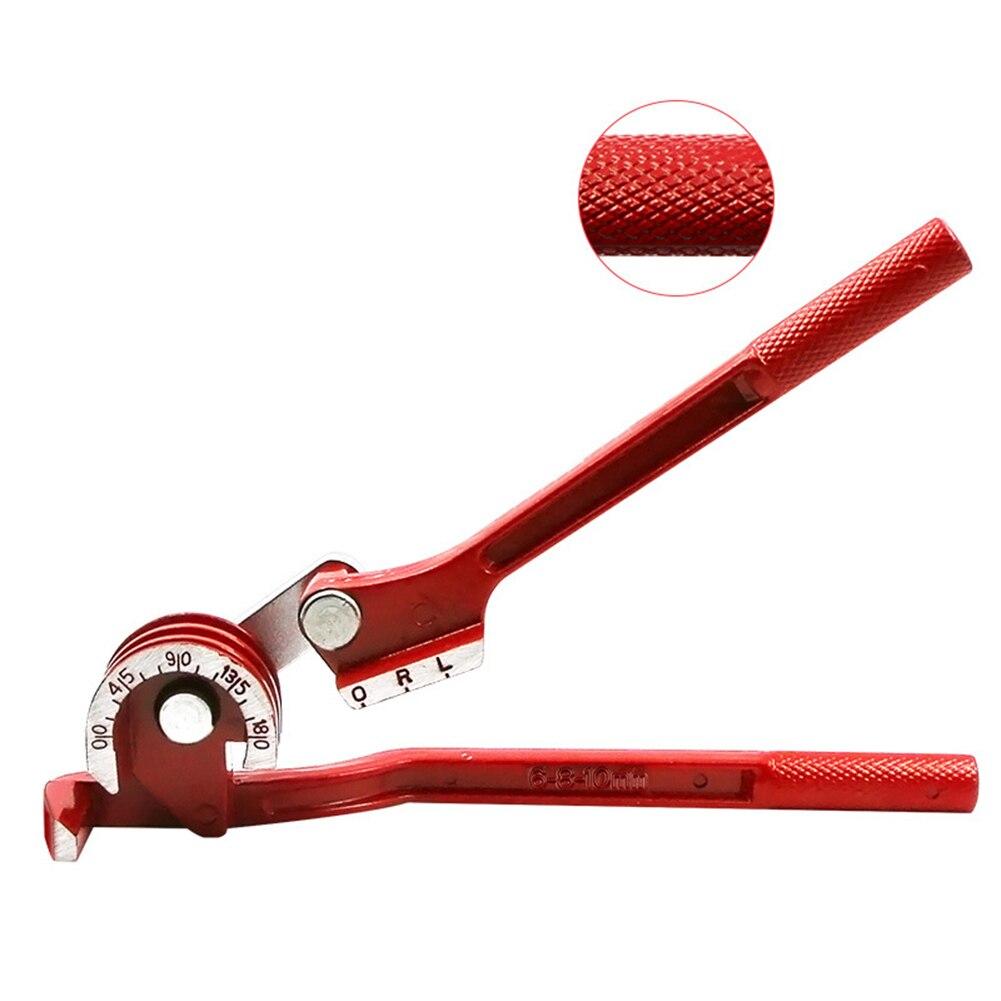 Инструмент для гибки труб 6 мм/8 мм/10 мм ручной трубогиб сверхмощный алюминиевый сплав для мягких металлических труб ручной инструмент прока...