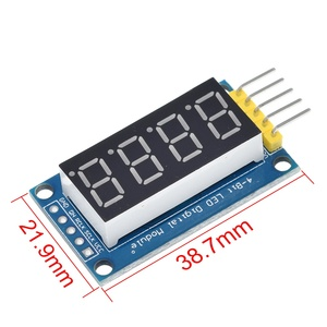 Image 5 - Tubo Digital TZT de 4 Bits, Módulo De Pantalla LED de cuatro series para controlador Arduino 595