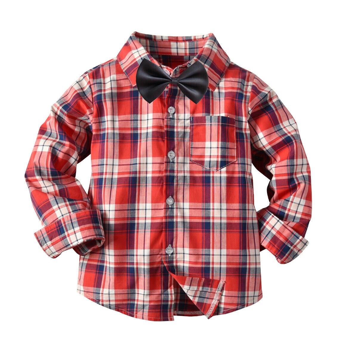 Emmaaby/Новинка года; классические рубашки в клетку с длинными рукавами и лацканами для мальчиков; сезон весна-осень топы с карманами; Повседневная рубашка для маленьких мальчиков детская одежда - Цвет: Оранжевый