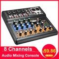 LEORY consola de mezcla de Audio profesional de 8 canales mezclador de DJ Digital Mini USB con interruptor de almohadilla efecto DSP para Karaoke