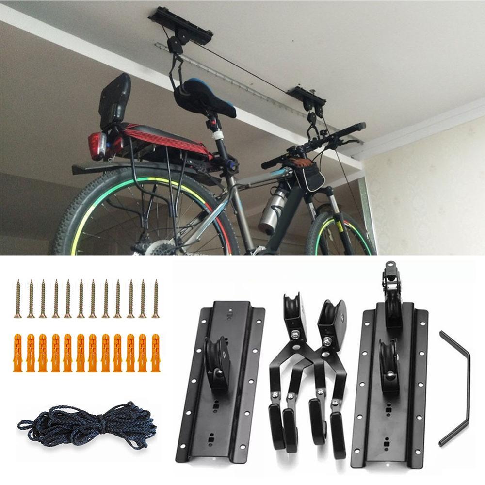 Bicycle Accessories Bike Hoist Ceiling Bike Lift For Garage Heavy-Duty Lift For Bike, Kayak, Ladder, Cargo