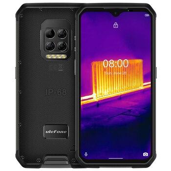Купить Ulefone Armor 9 NFC IP68 Ударопрочный телефон с термокамерой Android 10 Восьмиядерный 8 ГБ + 128 Гб Камера 64 мп 6600 мАч надежные смартфоны